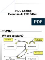 VHDL Coding for FIR Filter