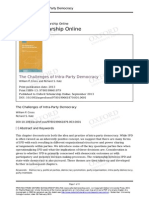 The Challenges of Intra-party Democracy