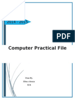 Computer Practical File