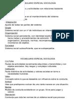 Glosario de Sociología