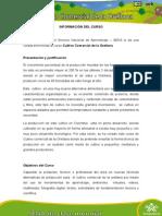 Información Del Curso Cultivo Comercial Orellana