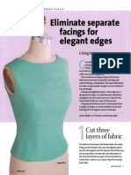Eliminating Separate Facings for Elegant Edges