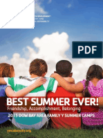 Dow Bay Area Family Y 2015 Summer Camp Guide