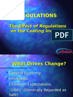 The Effects of Regulations on Coatings