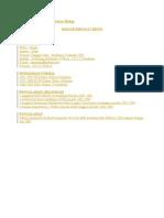 Contoh CV / Daftar Riwayat Hidup