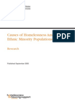Causes of Homelessness Amongst Ethnic Minority Populations - Off. of the Dep. PM - 2005