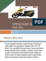 Spesifikasi Motor Mio M3