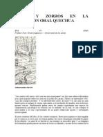 Curas y Zorros en La Tradición Oral Quechua