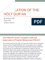 Compilation of the Holy Qur'an