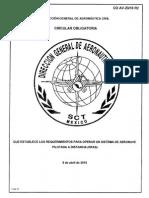 Regulación uso de drones en México (SCT)