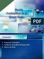 Sustitución Nucleofílica en El Grupo Acilo