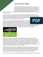 De que forma Descargar Musica De Spotify