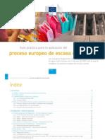 Guía Práctica Proceso Europeo Escasa Cuantía