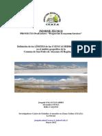 Informe Tecnico Límites de Cuencas Hidrogeograficas