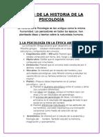 La Psicologia Historia - Etapas
