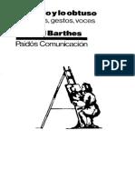 Barthes Roland Lo Obvio y Lo Obtuso