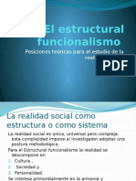 2 El Estructural Funcionalismo
