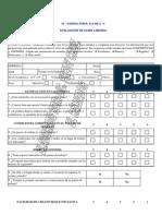 Formulario Para Evaluación de Clima Organizacional