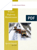 Winter Highway Maintenance