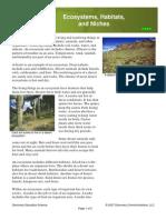 Reading-Habitat & Niche