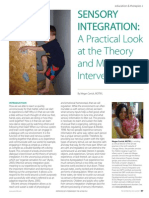Sensory Integration: A Practical Look at the Theory and Model for Intervention by Megan Carrick, MOTR/L