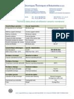 Technical Data Sheet Ultrafiltration Ceramic Membrane