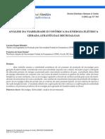 Viabilidade econômica da geração de energia elétrica por microalgas