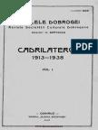 113845595 Analele Dobrogei Anul XIX Vol I Cadrilaterul 1913 1938 Vol I