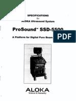 Aloka SSD-5500 - Service Manual