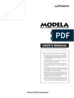 Roland MODELA MDX-20 Manual