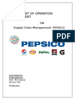 Project Report on Pepsi