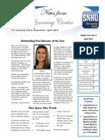 The Learning Center's April 2015 Newsletter