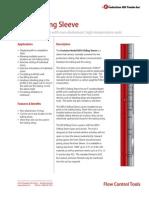 NEFU Sliding Sleeve Product Datasheet