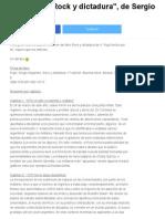 Resúmen de _Rock y Dictadura_, De Sergio Pujol