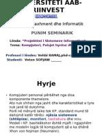Punim Seminarik - Projektimi i Sistemeve Informative