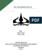 TUGAS VULKANOLOGI IV Roni Yunus 07212195.docx