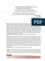 Comunicacao Publica Para Cidadania No Avanco Das Redes Sociais Oficiais
