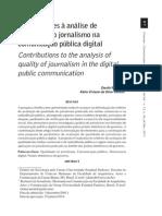 Contribuições à Análise de Qualidade Do Jornalismo Na Comunicação Pública Digital