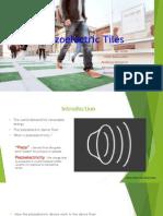 Piezoelectric dancefloor