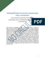 Aproximaciones de Política Migratoria Para Guatemala Versión Sin Editar