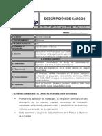 Descripcion de Cargos Taladro