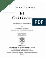 El Criticón (Tomo Tercero)