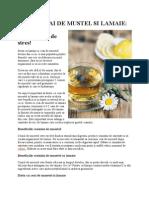 Dieta Cu Ceai de Musetel Si Lamaie