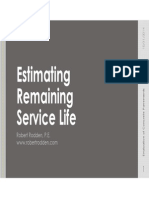 Estimating Remaining Service Life