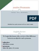 04/21-04/27 Possessive Pronouns