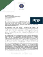 Letter from Dallas leaders to House Speaker Joe Straus on Uber bill