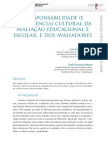 A responsabilidade (e competência) cultural da avaliação educacional e escolar e dos avaliadores