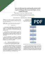Diseño de un punto de información multimedia potenciado por energía solar para el Parque Recreacional Jipiro, de la ciudad de Loja, paper resumen