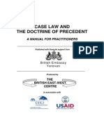 Case Law and the Doctrine of Prcedent