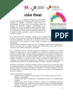 Declaracion Final dERECHO A LA cIUDAD